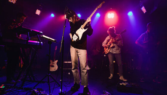 Underground music gig graced by up-and-coming artists